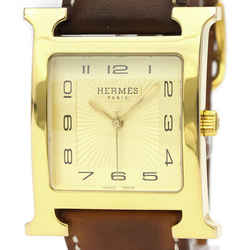 Hermes Heure H Quartz Gold Plated Men's Dress Watch HH1.801 BF526396