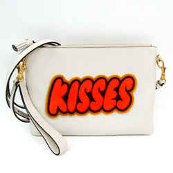 Anya Hindmarch Kisses In Chalk Circus 999502 Women's Leather Clutch Bag BF517794