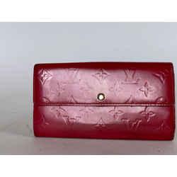 Louis Vuitton Pink Monogram Vernis Sarah Wallet 22la529
