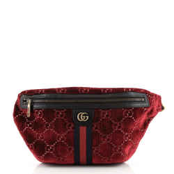 Ophidia Zip Belt Bag GG Velvet