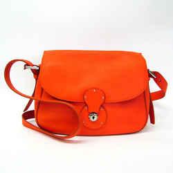 Ralph Lauren Women's Leather Shoulder Bag Orange BF527086