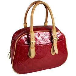 Louis Vuitton Vernis Summit Shoulder Bag Red Leather