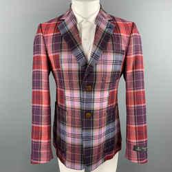 Vivienne Westwood Man Size 40 Multi-color Plaid Wool Notch Lapel Sport Coat