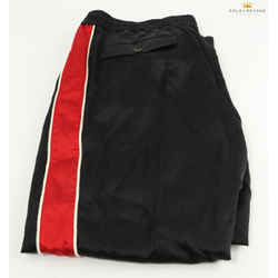Gucci Acetate Black Jogging Pants W/ Red/white Stripes