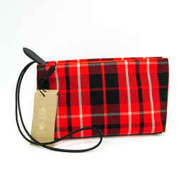 Burberry Wash Bag 4069528 Unisex Canvas,leather Clutch Bag,pouch Black, Bf501799