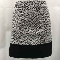 Michael Kors Black Printed Skirt 10
