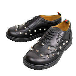 Gucci Kids Black Leather Studded Lace-up Sneakers 297486 (29 G / 12 US)