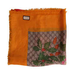 Gucci GG Printed Floral Scarf