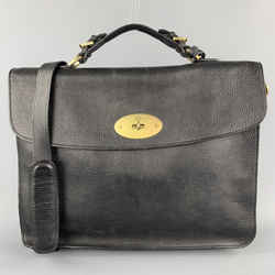 Mulberry Solid Black Leather Briefcase Bag