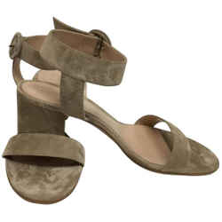 Gianvito Rossi Beige Suede with Ankle Wrap Strap Sandals Size: EU 39.5 (Approx. US 9.5) Regular (M, B) Item #: 25812724