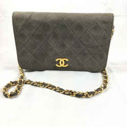 Chanel Suede Glitter Wallet on a Chain