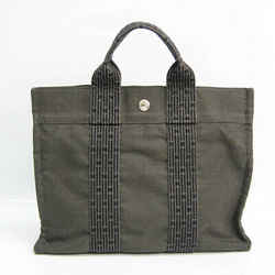 Hermes Her Line PM Unisex Polyamide,Polyester Tote Bag Black,Gray BF530357