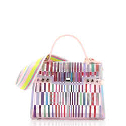 The Eye Catcher Tempete Top Handle Bag Multicolor PVC GM
