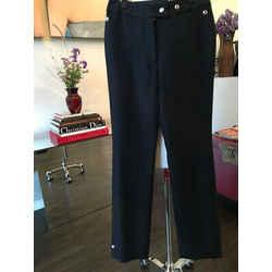 Acne Studios Sz Eu/german 32 Black Wool Snaps Wide Leg Pants Nwt - 443-14-6919