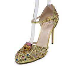 Gucci Metallic Gold Glitter Heels Size 6.5