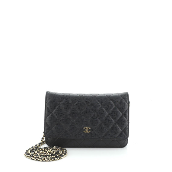 Wallet on Chain Quilted Caviar