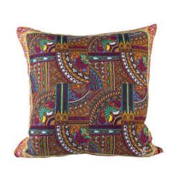 "KENZO Vintage Tile Pillow Cover 18"""