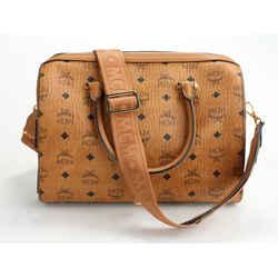 MCM Essential Boston Bag in Visetos Original