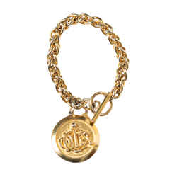 Christian Dior Vintage Medallion Charm Bracelet
