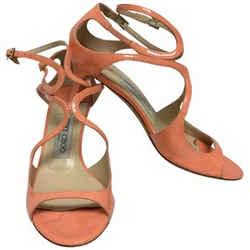 Jimmy Choo Peach Patent Leather Strappy Sandals Size: EU 36.5 (Approx. US 6.5) Regular (M, B) Item #: 25705776
