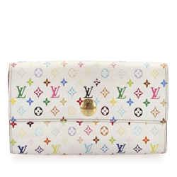 Vintage Authentic Louis Vuitton Monogram Multicolor Sarah Long Wallet