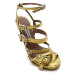 Tabitha Simmons Gold Strappy Sandals