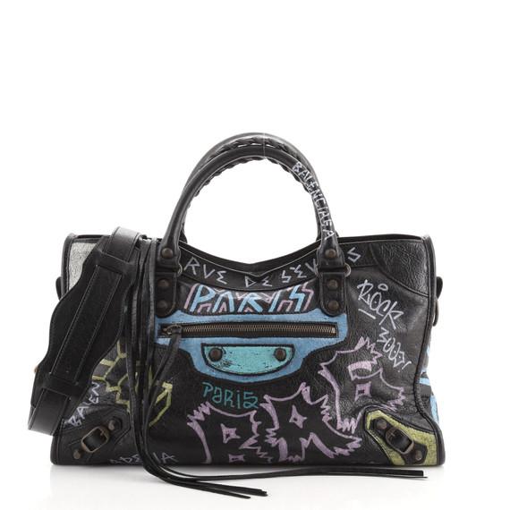 City Graffiti Classic Studs Bag Leather Medium