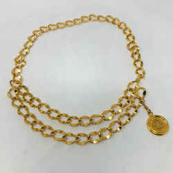 Chanel Gold Metallian Double Chain Coin Belt Vintage 1607-100-22520