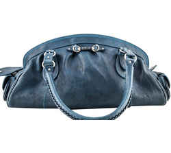 Christian Dior Bowler Shoulder Bags Blue