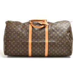 Louis Vuitton Keepall 60 Monogram Canvas Duffle Travel Bag LT737