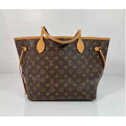Louis Vuitton Monogram Neverfull MM with Beige Interior Tote Shoulder Handbag