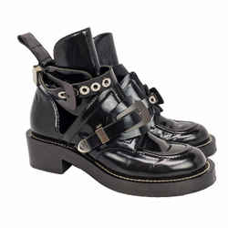 Balenciaga Ceinture Buckle Cut Out Ankle Boots 37.5