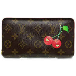 Louis Vuitton 871819 Cherry Monogram Long Zippy Zip Around Porte Monnaie Cherries