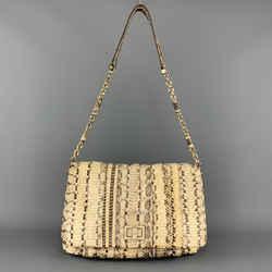 Anya Hindmarch Beige Phython Skin Leather Shain Strap Shoulder Bag