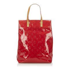 Red Louis Vuitton Vernis Reade MM Bag