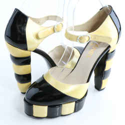 Chanel Color Block Platform Sandals