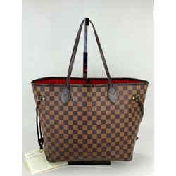 Louis Vuitton Neverfull MM Damier Ebene Tote  Shoulder Bag A631 Authentic N41358