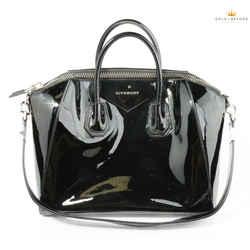 Givenchy Black Patent Leather Antigona Shoulder Bag