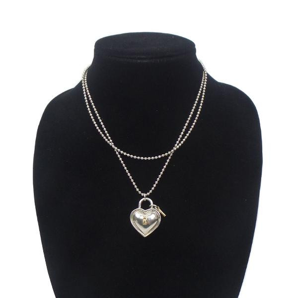 Tiffany Co Heart Lock Key Pendant Necklace Leprix