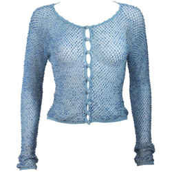 MOSCHINO Sky Blue Beaded Knit Sweater Size 42