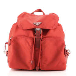 Double Front Pocket Backpack Tessuto Medium