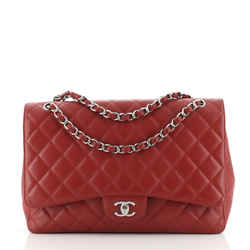 Classic Single Flap Bag Quilted Caviar Maxi