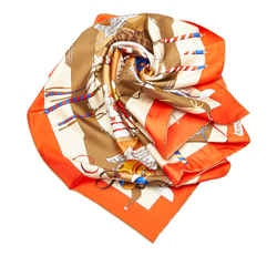 White Hermes Carnaval de Venise Silk Scarf