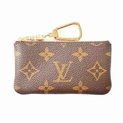 Auth Louis Vuitton Louis Vuitton Monogram Pochette Clekey Case Brown Pvc