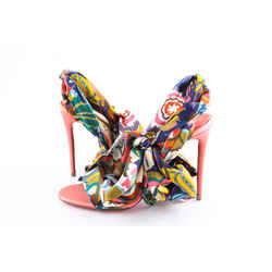 Christian Louboutin Multicolor Sandale Du Desert 100 Charlotte Satin