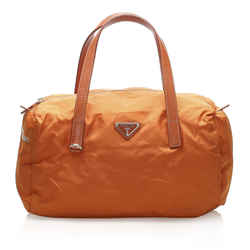 Orange Prada Tessuto Handbag Bag