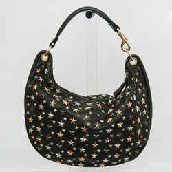 Jimmy Choo Women's Leather Shoulder Bag Black BF527646