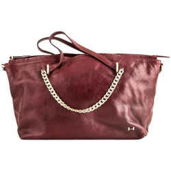 Halston Heritage Syrah Shoulder Bag Red One Size Authenticity Guaranteed