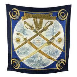 Hermes Paris Vintage Silk Scarf Armes De Chasse 1970 Ledoux