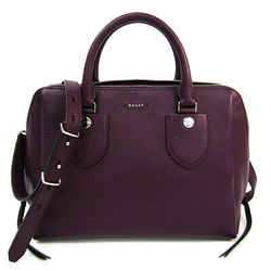 Bally MARCIA Women's Leather Handbag,Shoulder Bag Purple BF518120